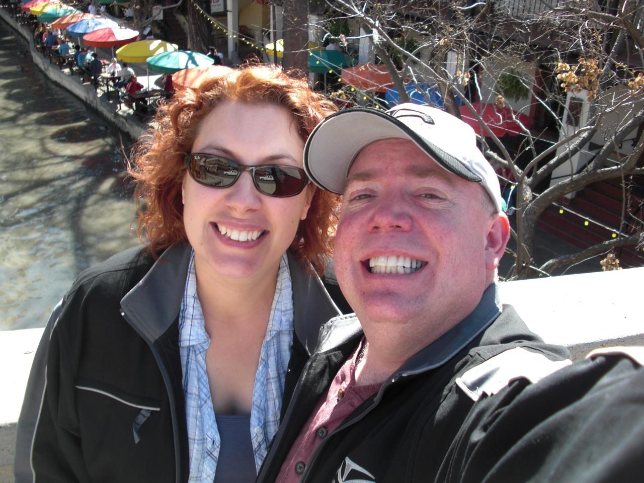 David & Brenda Overlooking The Riverwalk