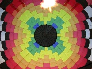 View Looking Up From Our Hot Air Balloon