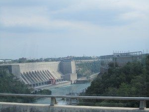 View From Lewsiton Bridge Border Crossing. This Is The Lewiston Hydro Dam.