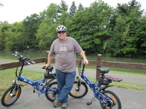 David With Our New Bikes On The Erie Canal