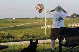 David and Tasha Watching The Balloons