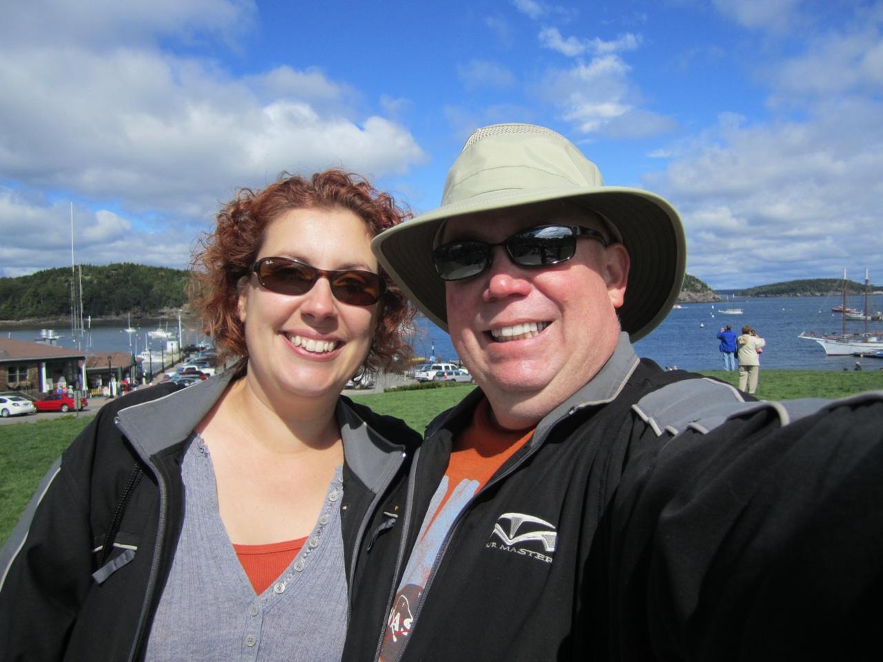 David & Brenda In Bar Harbor, Maine