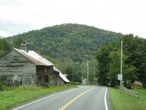 Route 7 In Vermont, Heading Towards Mass.
