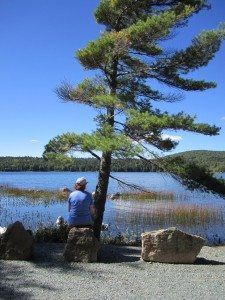 Brenda Looking Out Over Eagle Lake
