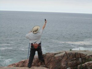 David Looking For His Cell Signal
