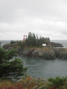 East Quoddy Lighthouse On Campebello Island, Canada.