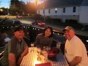 Jonathan, Dasy & David At Our Last Dinner Together.