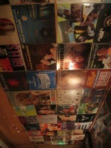 Old Album Covers On The Ceiling