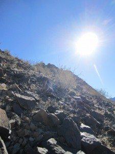 Geocaching On Ridgeback Mountain In Desert Center, CA