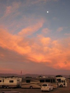Sun Setting At The Fairgrounds In Indio, CA