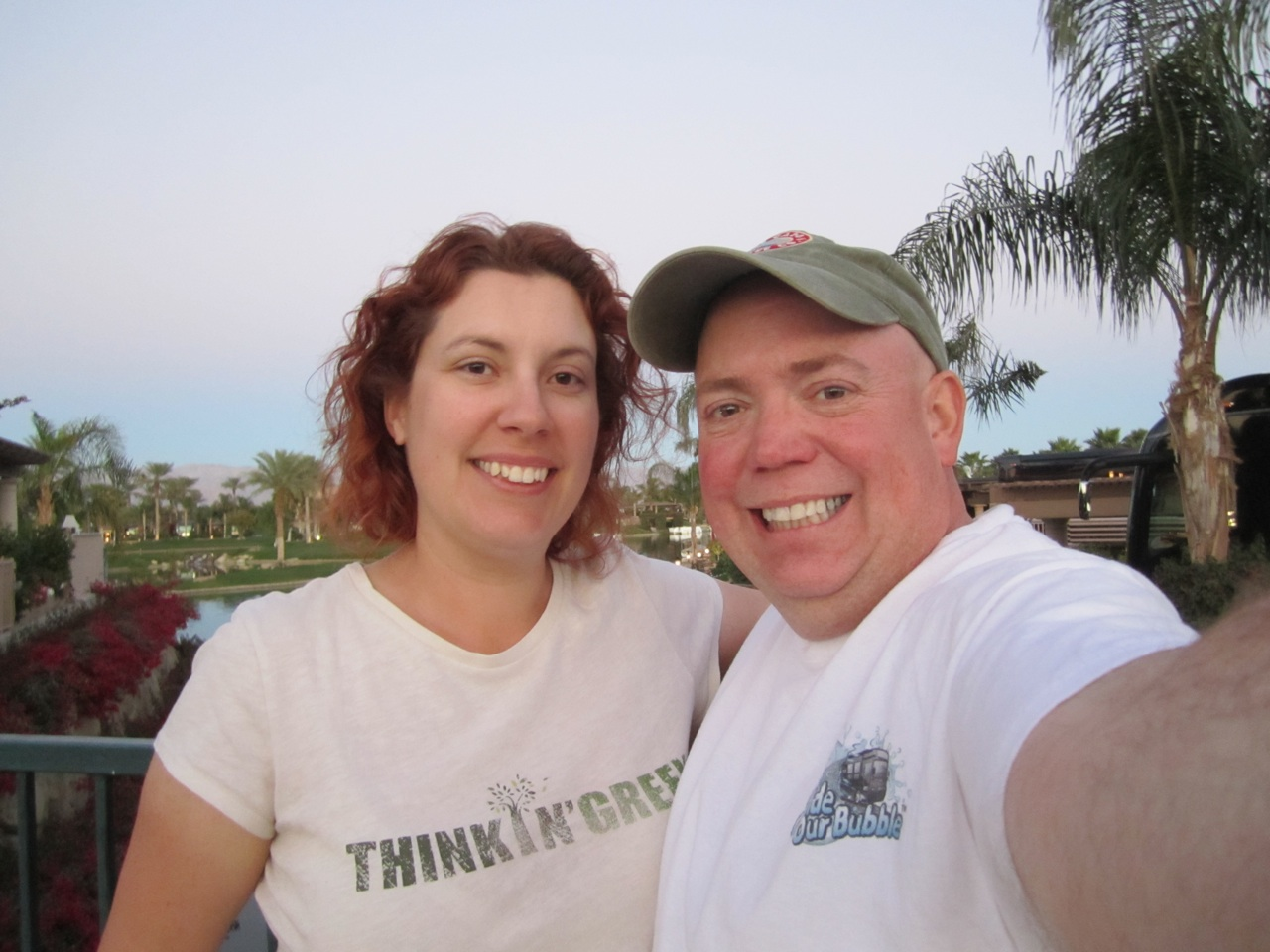 David & Brenda On An Evening Walk In The Resort