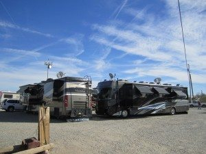 Our Rig In The Square We Form At Quartzsite