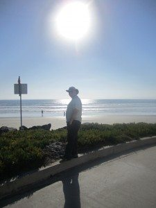 David Enjoying The View of The Pacific Ocean And The Beach