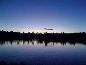 Sunset At Lake Tamarisk