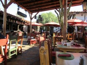 The Outdoor Courtyard Where We Had Lunch At Casa de Reyes