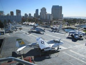 The Hanger Deck Aboard The USS Midway
