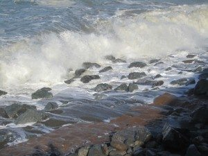 The Ocean Just Pounding Away At The Boulders. They Look So Insignificant.