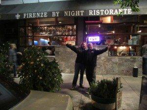 David And Brenda Outside Firenze By Night Ristorante