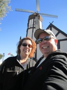 David And Brenda Outside Pea Soup Anderson's Restaurant And Their Dutch Windmill