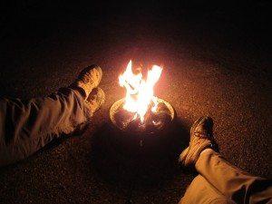 David And Brenda Enjoying The Evening Around Our Campfire