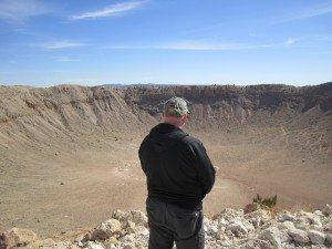 David Overlooking The Meteor Crater