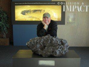David And The Meteorite On Display