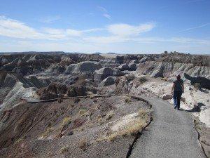 Brenda Starting The Blue Mesa Trail