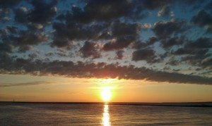 Sunrise Over Lake Ontario In Rochester, NY