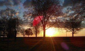 Walking Around Ontario Beach Park During Sunrise