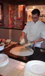 Chef Making The Crepes