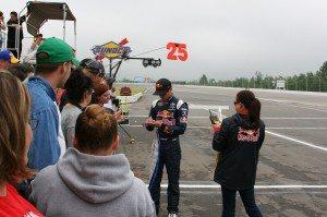 Red Bull Race Car Driver Kasey Kayne Signing Autographs
