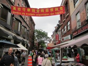One Of The Streets In Chinatown