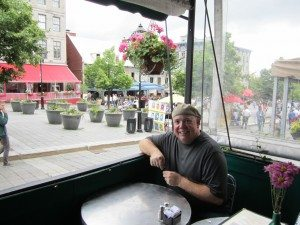Lunchtime On The Square In Old Montreal