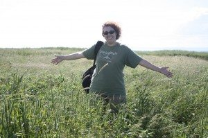 Brenda In The Tall Grass On A Hike On Bell Island