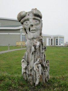 Driftwood Sculpture In Sainte Anne des Monts