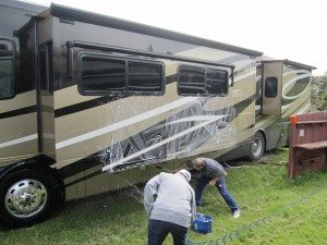 Our Friend Curtis Washing His Rig And Terry Helping Out.