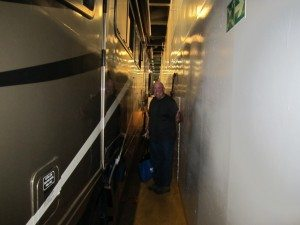 Tight Squeeze Even Leaving The Garage Deck And Heading To The Passenger Decks.