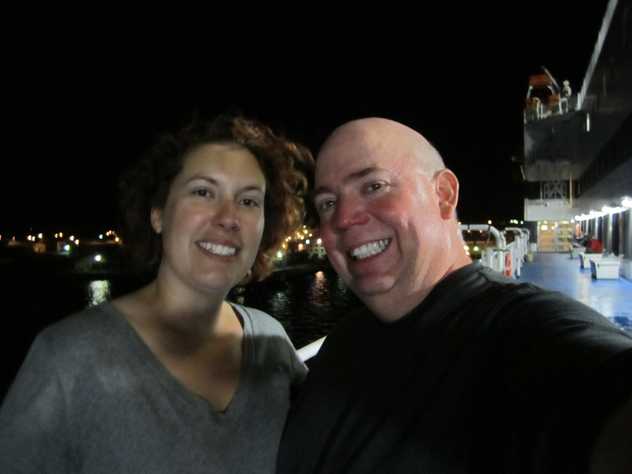 David And Brenda On Board The Ferry