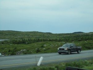 The Landscape On Our Way To St. John's From The Ferry