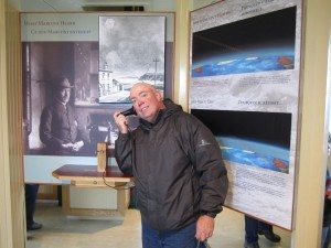 David Listening To What The Morse Code Wireless Signal Sounded Like Back In 1901.