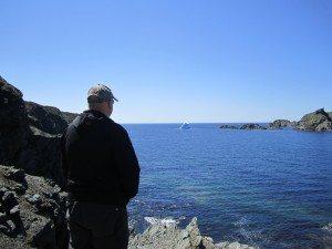 David Enjoying The View. Iceberg In The Water.