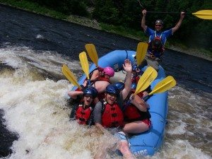 The Other Raft Going Into The Rapid