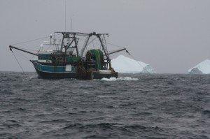 Fishing Boat With Iceberg