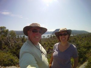 David And Brenda Out On A Hike