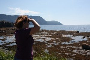 Brenda Checking Out The Shore At Rocky Harbour
