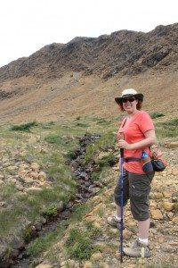 Brenda Hiking The Tablelands Trail