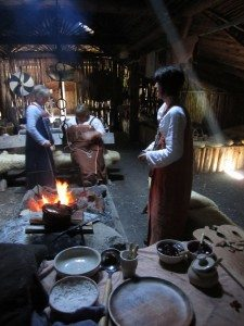 The Women At The Viking Village Make Food And Knit Clothes