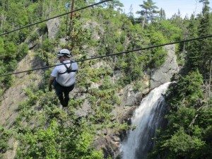 David On The Zip Line At Marble Mountain