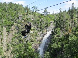 Gladys On The Zip Line At Marble Mountain