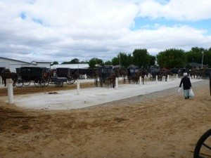 Amish Shopping At The Flea Market In Shipshewana